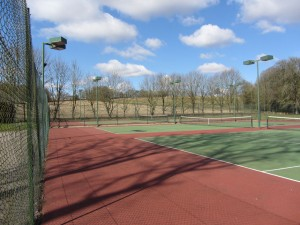 Three high quality flood-lit courts in the beautiful Candover Valley